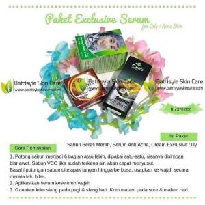 Paket Batrisyia Acne Exclusive Serum u/ Wajah Berminyak & Berjerawat