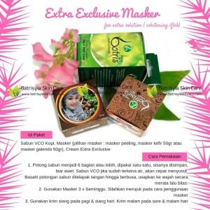 Paket Batrisyia Extra Exclusive Masker/Pencerah Wajah dan Kulit Flek