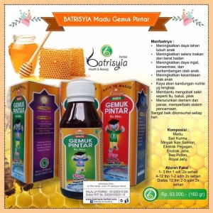 Madu Gemuk Pintar Batrisyia/Madu Penggemuk Badan Batrisyia Herbal