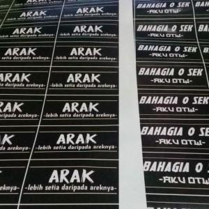 Jual Sticker Areknya Kab Sidoarjo Alnaura Printing Tokopedia