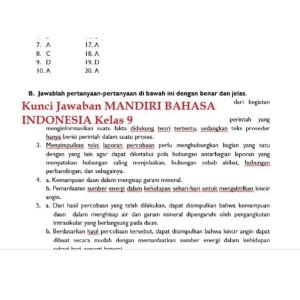 Jual Buku Mandiri Erlangga Bahasa Indonesia Kelas 9 Smp Kunci Jawaban Jakarta Barat Kenan Madava Tokopedia