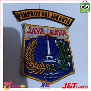 jual an badge emblem logo bordiran pemprov dki jaya raya fs4284 jakarta barat zafran official tokopedia tokopedia