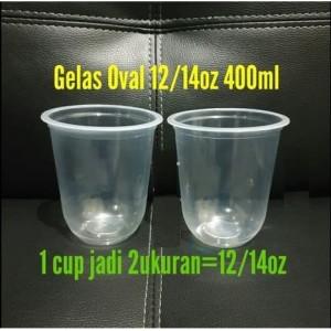 jual plastik cup pp cup oval cup u 12 14 oz 400 ml 50 pcs no tutup jakarta utara horesca tokopedia plastik cup pp cup oval cup u 1214 oz 400 ml 50 pcs no tutup