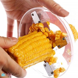 One-Step Corn Peeler Thresher Tool Cob Kerneler Cutter Stripper Remover PT