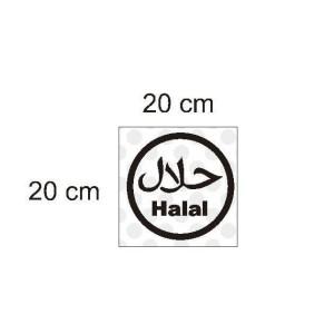 Jual Stiker Logo Halal Makanan Minuman Restaurant Cafe Cutting Sticker Sign Jakarta Selatan 99annisa Tokopedia