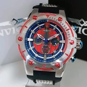 Jam Tangan Pria Invicta Marver Blue Red Grade Premium