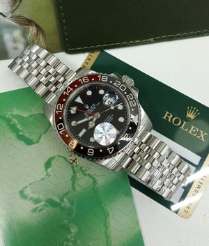 Rolex Gmt Master II Black Red Rante Jubil Swiss Clone 1:1