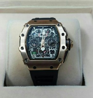 Jam Tangan Pria /Cowo Richard RM011 - 03 Rm 011-03 Gold Black