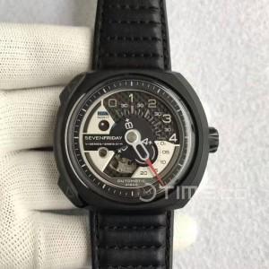 Jam Tangan SF V-Series V3-01 Swiss Clone 1:1 Black/Silver Dial