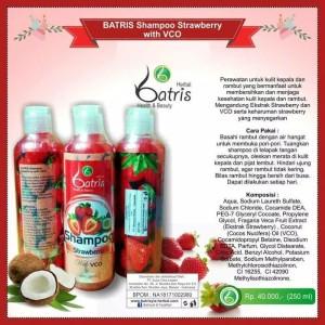 Shampoo Strawberry Batrisyia | Shampoo VCO Batrisyia u/ Rambut Rontok