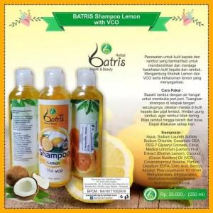 Shampoo Lemon Batrisyia | Shampoo VCO Batrisyia u/ Rambut Berketombe