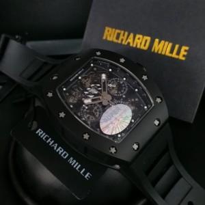 Richard Mille RM 011 Black Best Clone 1:1 Terbaik Limited