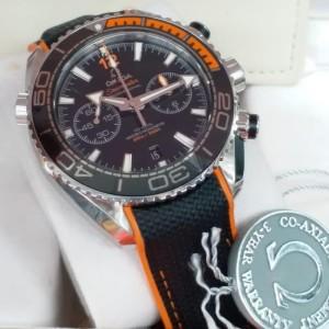 Omega Planet Ocean 600m Swiss Clone 1.1 OM Chronograph Orange Bezel