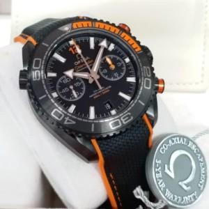Omega Planet Ocean 600m OM Swiss Clone 1.1 Chronograph Black Dial