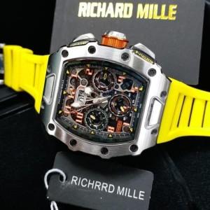 jam tangan ricard mille 011-03 strap yellow