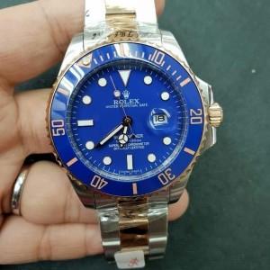 Jam Tangan Pria Rolex Submariner Silver Blue Dial Combi 45mm