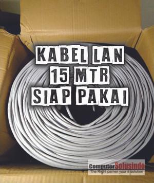 Kabel LAN UTP Merk SPECTRA 15MTR CAT 5 Plus Crimping Konektor RJ45 AMP
