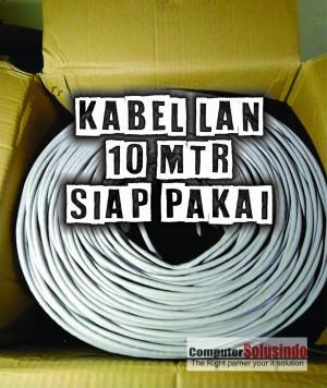 Kabel LAN UTP Merk SPECTRA 10MTR CAT 5 Plus Crimping Konektor RJ45 AMP