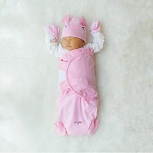 HELLO MYU Piggy Wrap (Bedong Instan) - Pink