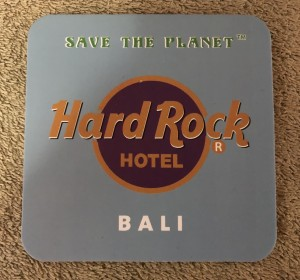 Alas Gelas (Coaster)/Tatakan Gelas Hard Rock Hotel Bali warna Abu-Abu