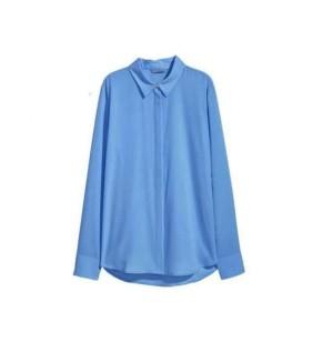 H&M Kemeja Kerja Biru Wanita Pakaian Branded Murah Original