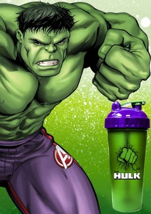 Botol Shaker The Hulk Cup Marvel Collection Original Series