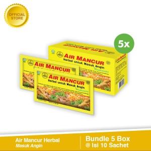 Beli 5 Air Mancur Herbal Masuk Angin Box (Isi 10 Sachet)