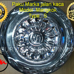 Paku marka gelas/Mata kucing gelas/Paku marka kaca/Glass road stud (S)