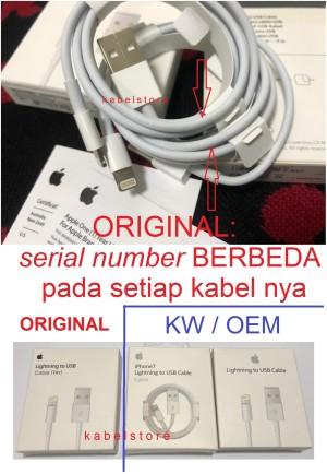 Original USB Iphone X 8 8+ 7 7+ 6s 6 plus ipad ipod Kabel Data Charger