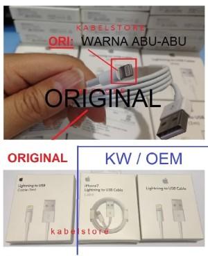 Kabel Data USB Lightning Iphone 6 5s 5c 5 / Ipad 4 / Mini ORIGINAL100%