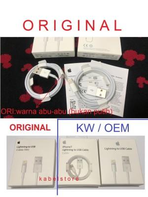 Charger Kabel Iphone 8 7 X 6 Apple Lightning Cable Data Original usb