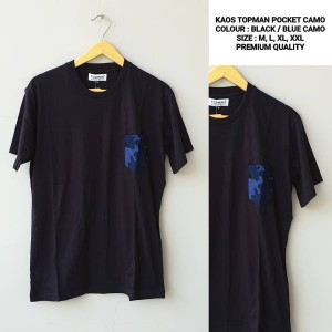 T-Shirt Kaos Topman Pocket Camo