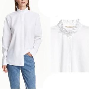 H&M Kemeja Kerja Putih Wanita Pakaian Branded Murah Original