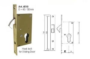 Kunci CASA 4510 Hook Bolt for Sliding Door - TERMURAH