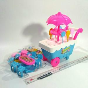 Mainan masak-masak masakan gerobak es krim ice cream booth set.