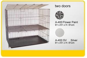 Kandang Kucing Anjing Hewan 2 Pintu A-400