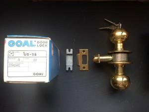 Kunci pintu GOAL door lock US 5E, B/S 70, DT 40 Finish: Brass TERMURAH