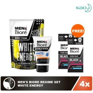 Men's Biore Regime Set - White Energy