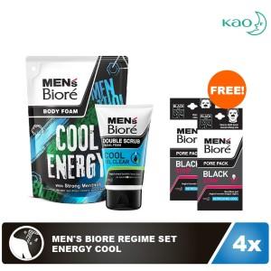 Men's Biore Regime Set - Energy Cool