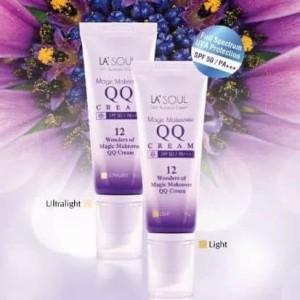 Sunblock spf 50 Pa +++ La'Soul QQ Cream Light ultralight KOREA ASLI