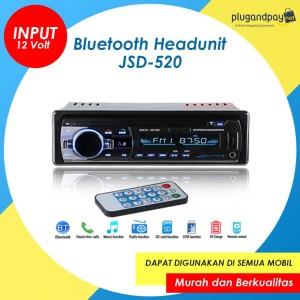 Head Unit Headunit Tape Audio Mobil Bluetooth USB MP3 JSD-520