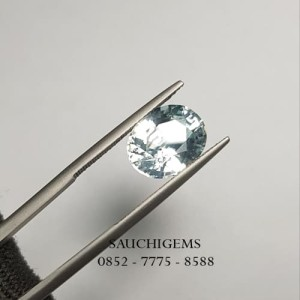 SG-065 NATURAL HQ BRILLIANT OVAL CUT ZIRCON LUSTER SPARKLING