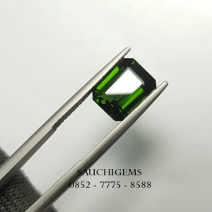 SG-074 TOP HQ QUALITY GREEN TOURMALINE OCTAGON EMERALD CUT VERY RARE