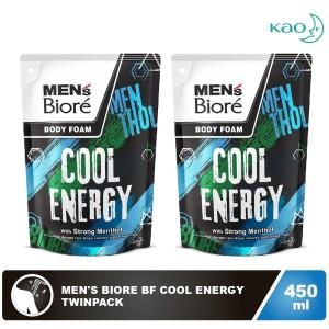 Men'S Biore Body Foam Cool Energy Pouch 450mL Twinpack