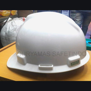 Helm MSA Amerika Vgard sarangan Geser(staz-on) warna putih