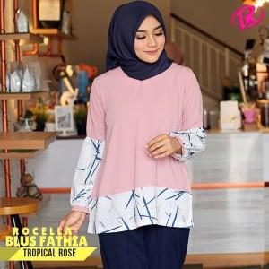 [S-XL] Original Rocella Blus Fathia Atasan Muslimah - Tropical Rose