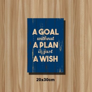 Poster Kayu Quotes Vintage A Goal A Plan 2030