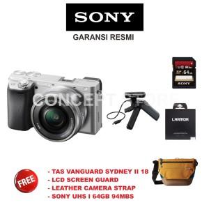 Sony Alpha A 6400 Kit 16 50 . A6400 Kit Mirrorless GP - VPT1 Silver