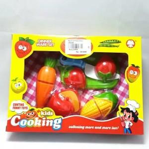 Mainan Anak Perempuan Dinner Set Cuting Cooking A