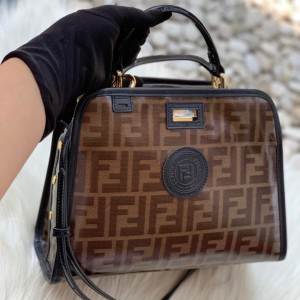 Tas fendi peek a boo defender mini pvc monogram 25cm